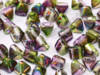 Pyramid Beads, 6x6 mm, Magic Orchid