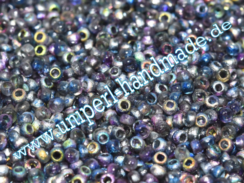 CR-11-95100E Czech Seed Beads 11/0 (2,0 mm), 10 Gramm, Etched Magic Blue