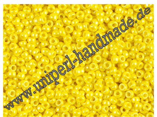MR-11-0422 Miyuki Seed Beads 11/0 (2,0 mm), Opaque Luster Yellow