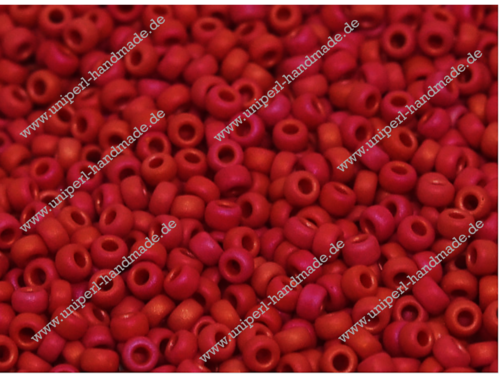 MR-11-2076 Miyuki Seed Beads 11/0 (2,0 mm),  Matted Opaque  Red Luster