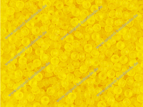 MR-11-0136F Miyuki Seed Beads 11/0 (2,0 mm), Matted Transparent Yellow