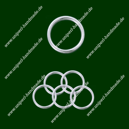 Closed Ring, Diameter 8 mm, Thickness 1.5 mm, 925 Silver