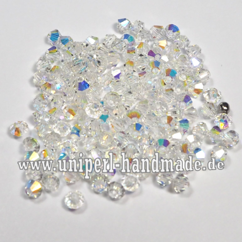 Preciosa MC Bicone 3 mm Crystal AB