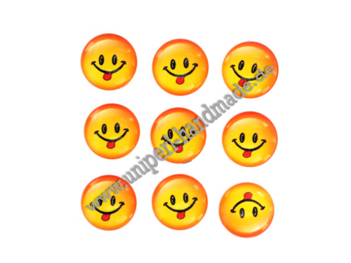 Emoji Cabochon, 14 mm, Face With Stuck-Out Tongue