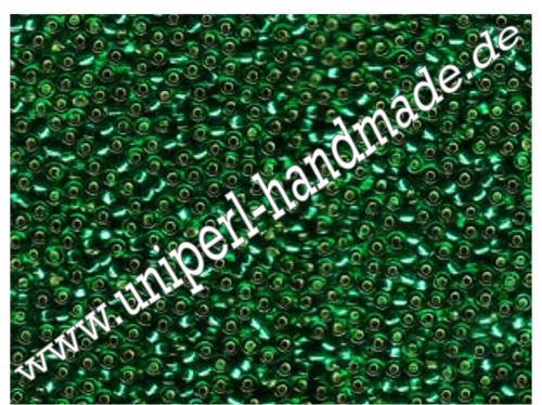 MR-11-0017 Miyuki Rocailles 11/0 (2,0 mm), Transparent Silver Lined Emerald