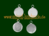 Pendant, Stainless Steel, 19,5x16x2 mm, for 14 mm Cabochon
