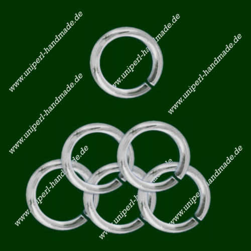 Jump Ring Open, Diameter 5 mm, Thickness 1 mm, round, 925 Sterling Silver