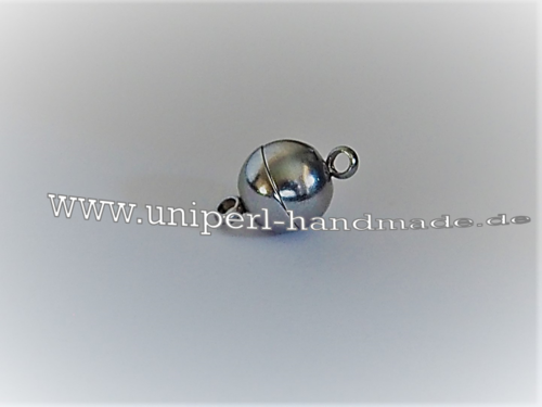 Magnetic Clasp, Stainless Steel, 13 x 8 mm