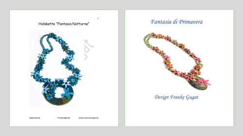 2 Tutorials - Fantasia Notturna+Fantasia Primavera, Necklaces