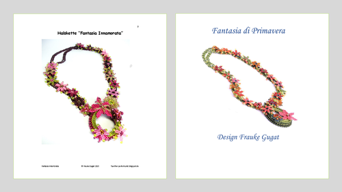 2 Tutorials - Fantasia Primavera+Fantasia Innamorata, Necklaces