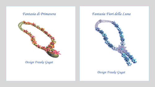 2 Tutorials - Fantasia Primavera+Fantasia Fiori della Luna, Necklaces